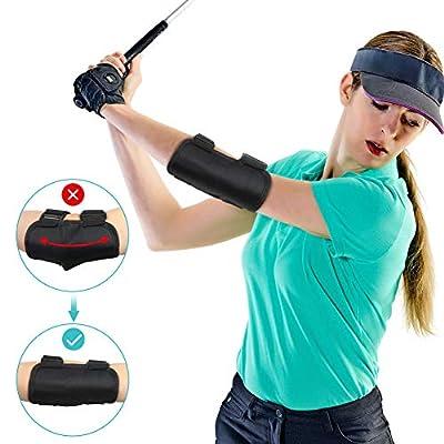 Yosoo Health Gear Golf Swing Training Aid Elbow, Golf Swing Trainer, Straight Arm Golf Training Aid with TIK-Tok Sound Notifications, Posture Correction Brace of Golf Swing for Beginners Training