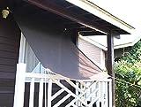 SEASONS 日除け シェード オーニング (180×180cm)庭·バルコニー用 チョコ 【3年間の安心保証】