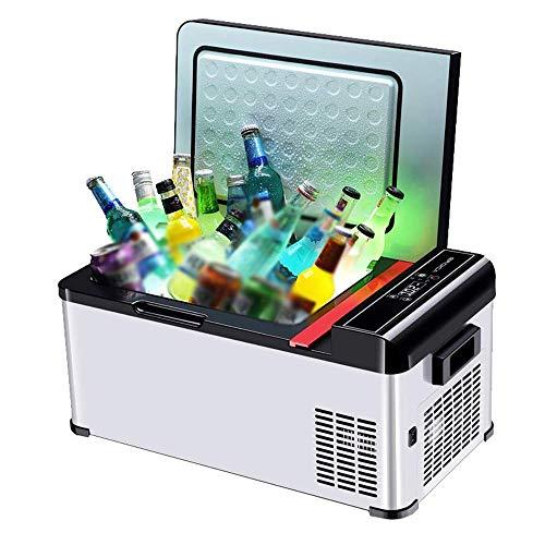 GHJA Enfriador y Calentador eléctrico para Oficina, Dormitorio Universitario, Dormitorio y apartamento, frigorífico de compresor pequeño Refrigerador de Coche de 18 l con 12 V / 24 V, frigorífico