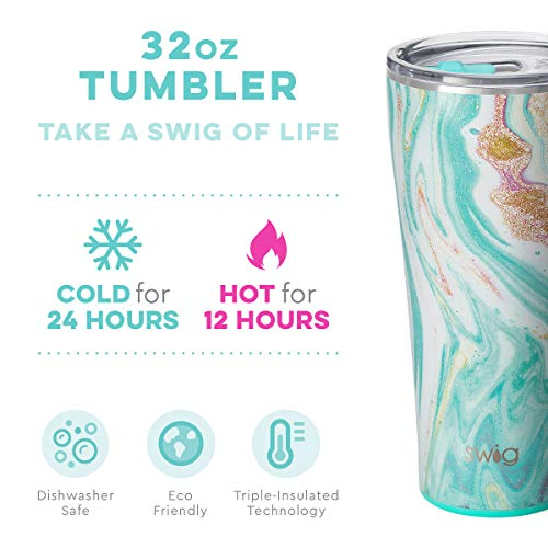 Swig Life 32oz Triple Insulated Stainless Steel Tumbler with Lid, Dishwasher Safe, Double Wall, and Vacuum Sealed Travel Coffee Tumbler best insulated coffee cup