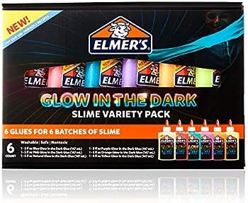 6 Count Elmers Glow in the Dark Glue Variety Pack