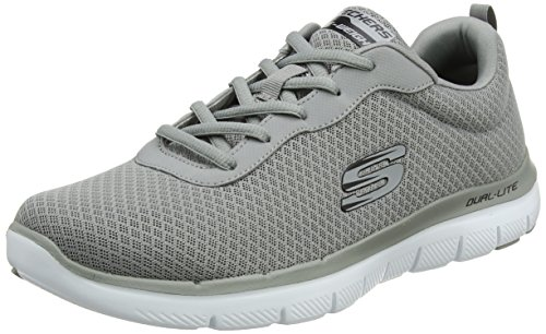 Skechers Herren Flex Advantage 2.0-Dayshow Sneaker, Grau (Grey), 42 EU