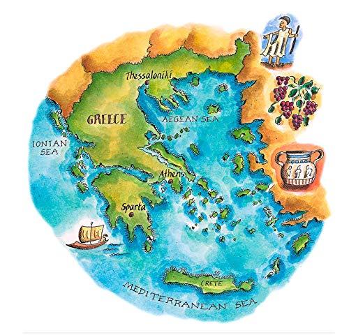 El rompecabezas de madera 300 piezas, rompecabezas, juguetes educativos para niños adultos,Mapa de Grecia y las islas griegas