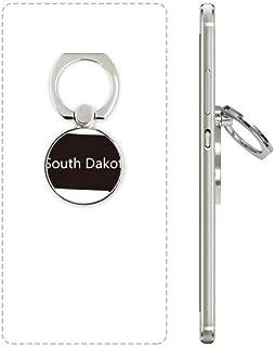 DIYthinker South Dakota Usa Kaart Silhouette Mobiele Telefoon Ring Stand Houder Beugel Universele Smartphones Ondersteunin...