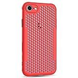 Desconocido Funda Compatible con iPhone 6, Ultra-Delgado Disipadores de Calor Carcasa Anti caída Totalmente Protectora Caso de Silicona Cover Case para iPhone 6S, Rojo
