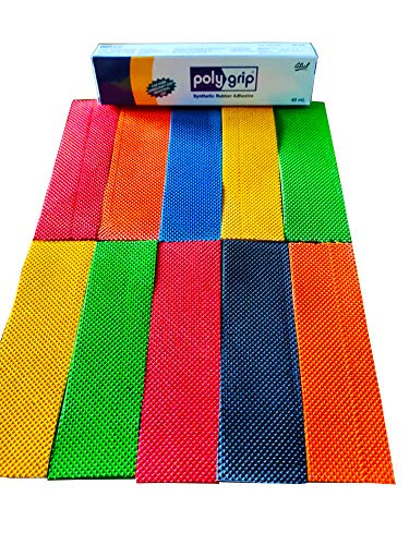 CE Rhino Cricket Bat Toe Guard with Pasting Glue - Assorted Colours, Full Size (Pack of 10)