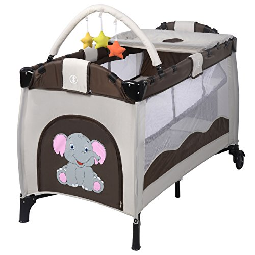 51VwWFGGknL - FORSTART Baby Changing Table with Wheels