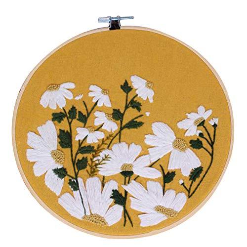 Sawyerda - Bolsos de mano para mujer, gran capacidad, bordados, de paja, Amarillo (Amarillo) - Sawyerda