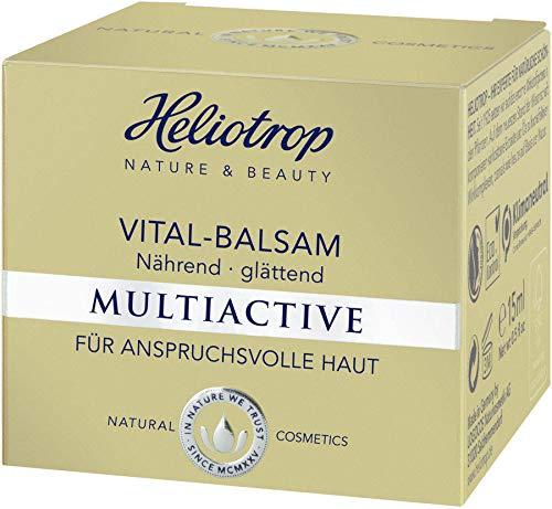 HELIOTROP Naturkosmetik MULTIACTIVE Vital-Balsam, Reguliert die sensible Hydro-Lipid-Balance, Schenkt ein spürbar gefestigtes, geglättetes & vitales Hautbild, Vegan, 15 ml