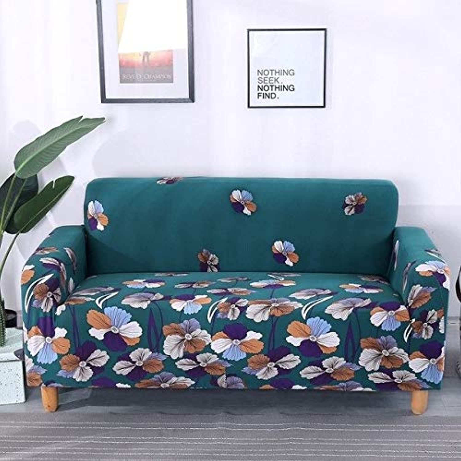 22-Styles Sofa Cover Sectional Capa de Sofa Covers Elastic Sofa Covers Flower Printed Slipcover Couch Cover for Living Room   08, Single Seat