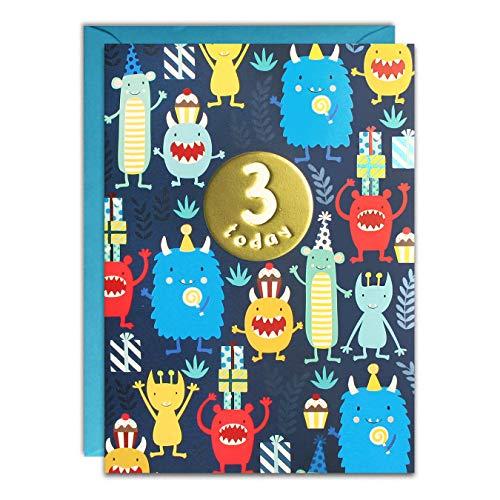 James Ellis - Leeftijd 3 Monsters Verjaardagskaart - HC3141