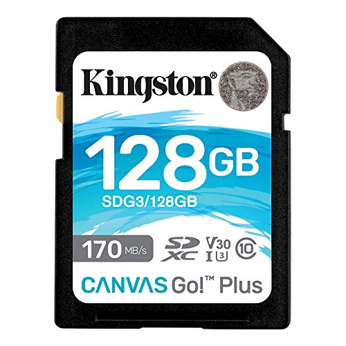 キングストン SDXCカード 128GB 最大170MB/s Class10 UHS-I U3 V30 4K Canvas Go! Plus SDG3/128GB 永久保証