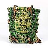 JONJUMP Estatua de resina artificial con ruinas egipcias, estilo romano, decoración de acuario