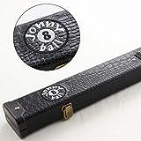 Jonny 8 Ball Black Croc Design 2pc Case For Snooker Pool Cue Estuche para Taco de Billar (2 Unidades), Color Negro, Unisex Adulto