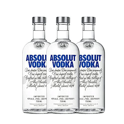 Vodka Absolut Azul 750 Ml / 3 botellas