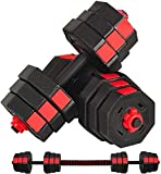 110 lb Dumbbells Hand Weights Set of 2 - Vinyl Coated Exercise & Fitness Dumbbell for Home Gym Equipment Workouts Strength Training Free Weights for Men (110Pounds) (22LB_B)