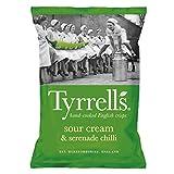 Tyrrell's - Patatas Fritas con Crema Agria y Serenade Chilli (Sour Cream & Serenade Chilli) - 1 x 150 gramos