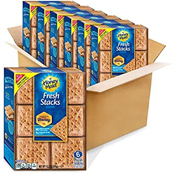 Honey Maid Fresh Stacks Graham Crackers Flavour 6 Count  Pack of 6  73.2 Ounce
