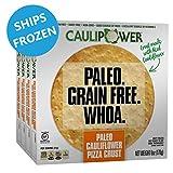 CAULIPOWER Paleo Cauliflower Pizza Crusts, Grain Free, Gluten Free, Non-Gmo, Lower Carb (4 Crusts)