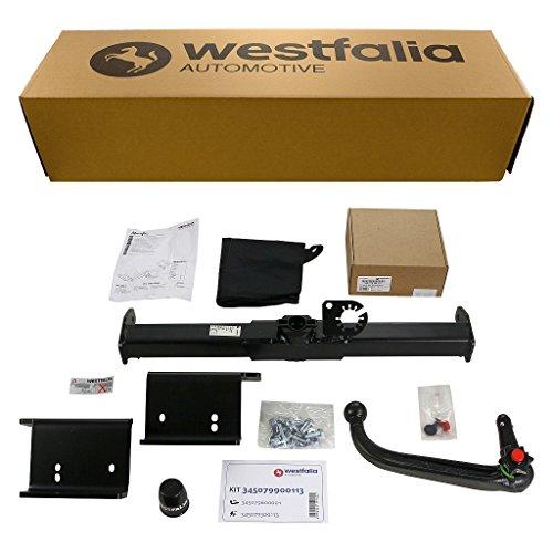 Westfalia Abnehmbare Anhängerkupplung für Kia Sportage (BJ 08/10-02/16) im Set mit 13-poligem fahrzeugspezifischen Westfalia Elektrosatz