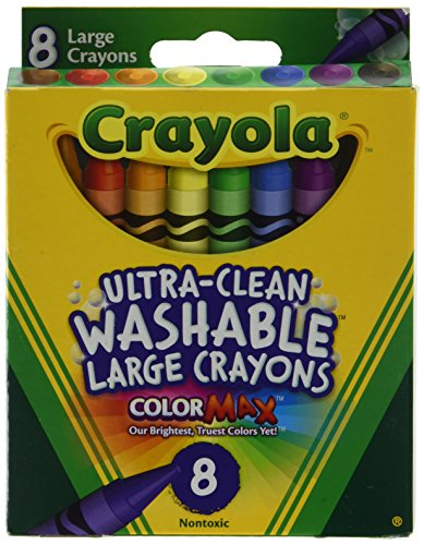 Crayola 5555 Kid's First Large Washable Crayons 8 Count