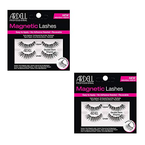 Ardell Magnetic Lashes Double Demi Wispies (2 Packs), Black