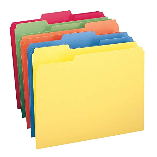 Smead File Folder, 1/3-Cut Tab, Letter Size, Assorted Colors, 100 per Box, (11943)