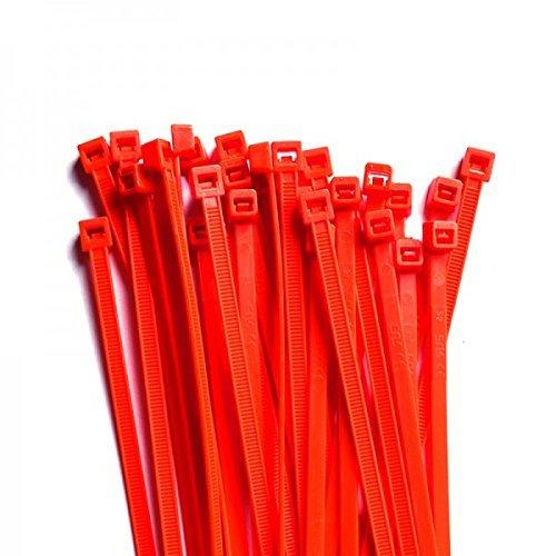 Gocableties 100 Stück Kabelbinder, Rot–300mm x 4,8mm–Hochwertige, starke Nylon-Kabelbinder
