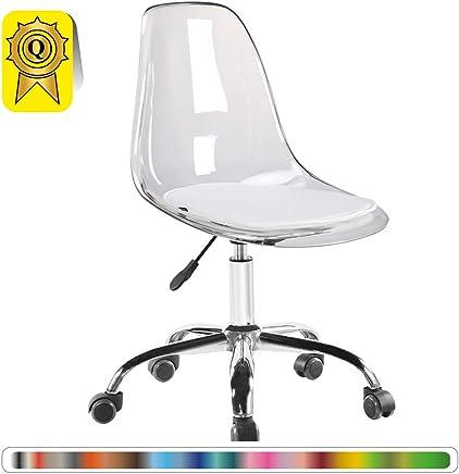 Amazon.es: sillas transparentes - Sillas de escritorio ...