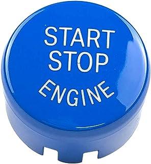 """Capa de botão para motor de 0,98"""" com botão de desligamento substitui o chassi BMW F/G – Azul"""