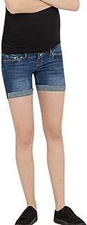 Lonshell Damen Schwangere Shorts Umstandsshorts mit Bauchband Destroyed Style Maternity Hotpants Umstandsjeans f/ür Sommer Kurz Schwangerschaftshosen Mama Umstandshose