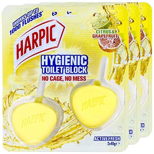 Harpic Activ Fresh WC-Stein Hygienic Citrus & Grapefruit 2St. - 3 Packungen pro Pack