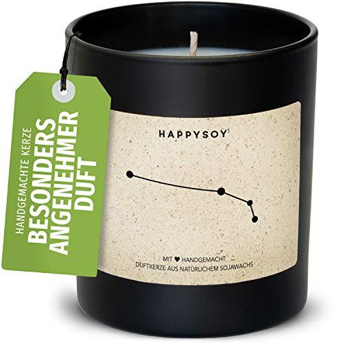 Geburtstagsgeschenk Widder Sternzeichen Duftkerze im Glas mit Spruch - handgemacht - nachhaltiges persönliches Geschenk, liebevolle Geschenkidee Geburtstag - Kerze mit Sternbild Himmel, zodiac aries