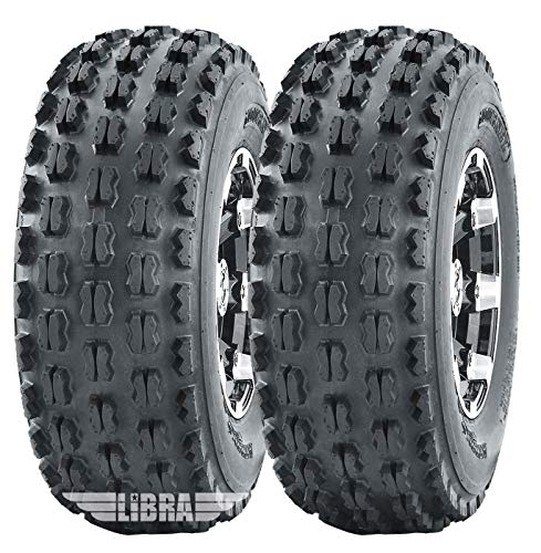 2 Sport ATV Tires 22x7-10 22x7x10 fit for Honda TRX 250EX 300EX 400EX 450R front GNCC Racing