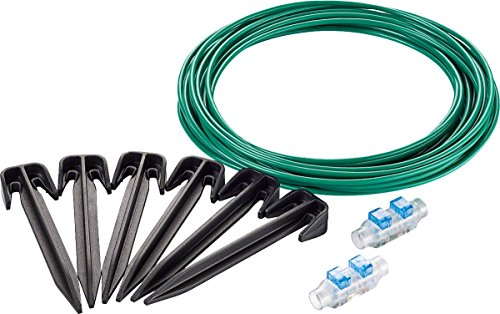 Bosch Indego Kit di Riparazione, 1 Cavo di Limitazione da 20 m, 2 Giunti per Cavi, 20 Ganci di Fissaggio, Scatola di Cartone