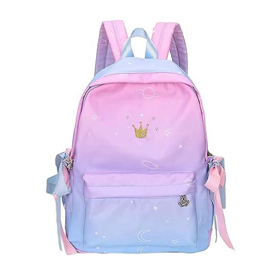 TYPIFY Women's Preppy Style Ribbon Backpack  Pink, Blue  Women's Backpacks