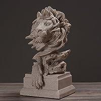 クリエイティブデコレーションライオンヘッド彫刻モデル動物デコレーションデスクトップデコレーションクラフト