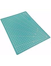 JKKJ Alfombrilla de corte A3, alfombrilla de costura de 5 capas de doble cara, tabla de cortar para tela, costura, acolchado y manualidades, imperial/métrico