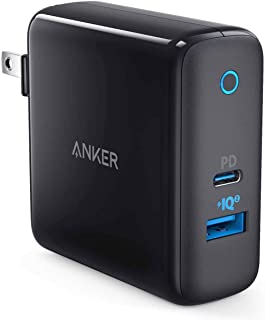 Anker PowerPort ll PD - 1 PD and 1 PowerIQ 2.0 (48W 2ポートUSB-A & USB-C 急速充電器)【PSE認証済/PowerIQ 2.0搭載 / PD対応/折りたたみ式プラグ搭載 】iPhone 11 / 11 Pro / 11 Pro Max / XR / 8、Galaxy S10 / S10+、Xperia XZ1、MacBook他対応(ブラック)