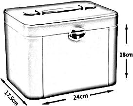 MU Boîte de Rangement Portable de ménage boîte à Bijoux en Bois Massif Multicouche/Coiffe Bijoux boîte de Pansement Polyva...