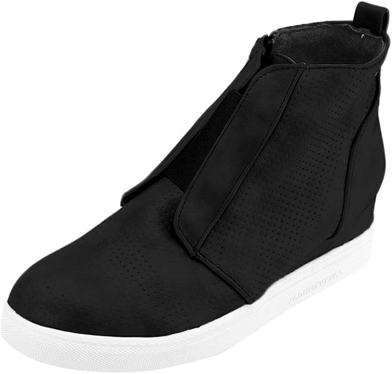 OLADO Damen Winter Warmer Stiefel Hoch-Spitze beiläufige Misch Farbe Innen Erhöhte Ankle Stiefel  | Genial  | Sale Online  | Garantiere Qualität und Quantität