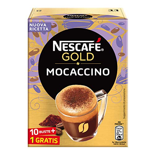 Nescafé Gold Mocaccino Preparato Solubile per Caffè al Cacao, Astuccio, 10 Bustine, 88g