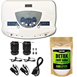 Cell Spa, Dual Ionic Ion Detox Aqua Foot Spa Chi Cleanse Machine with Mp3 Music Players (UNSCENTED)