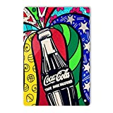 JSBFR Cartel de lata vintage con botella de coca cola para hombres y mujeres, decoración de pared para bares, restaurantes, cafeterías, pubs, letrero de metal vintage de 8 x 12 pulgadas A833