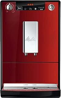 Melitta Caffeo Solo E950-104 - Cafetera automática, Molinillo cónico, Colorido y elegante, 1.2 Litros, Rojo