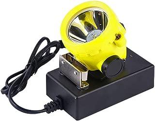 LED Mining Headlamp,Mining Cap Lamp Hard Hat Rechargeable Coal Mine Lamp Explosion Rroof Mining Light Waterproof BK2000 Hunting Headlamp