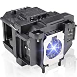 LBTbate ELPLP67 V13H010L67 Replacement Projector Lamp for EPSON PowerLite Home Cinema 710 750HD EX7210 EX3210 EX3212 EX5210 H429A VS210 VS220 MG-850HD PowerLite1221 1261W EB-S02 K85 Projector Bulbs