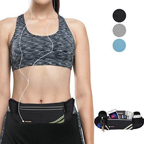 maxtop Sport Hüfttasche Bauchtasche Gürteltasche leichte wasserdichte Laufgürtel Lauftasche mit Kopfhöreranlass für Laufen, Wandern für iPhone 7 Samsung Galaxy S8 bis zu 6,7 Zoll