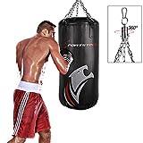 Sportstech - Sacco da Boxe Professionale, Fissaggio a 360°, Include Poster di Allenamento, Il Nostro BXP è consigliato dall'Associazione di Boxe Berlino, Ideale per Kick Boxing (100x40cm)
