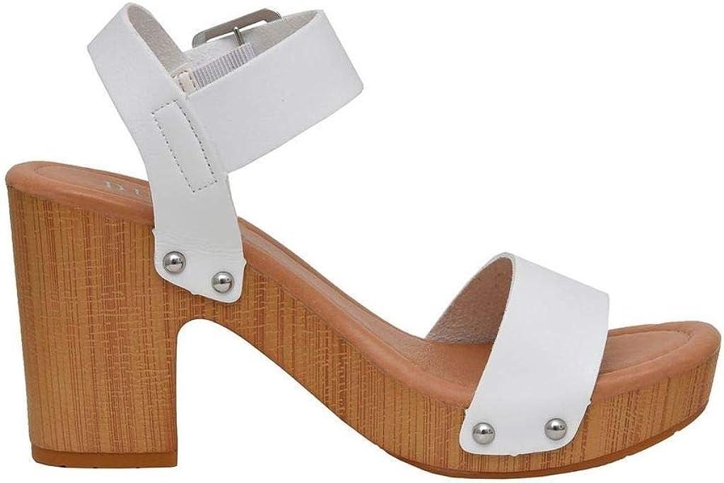 Dunes Womens Sydney Faux Wood Sandal Comfort Foam Insole /& LiteSole Technology